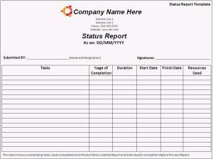 Comprehensive Day To Day Work Status Report Template  My Favorite