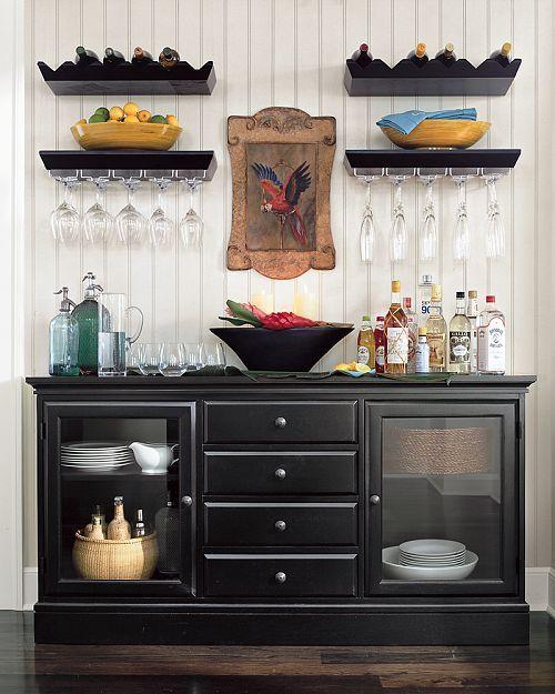 Buffet layout/shelves
