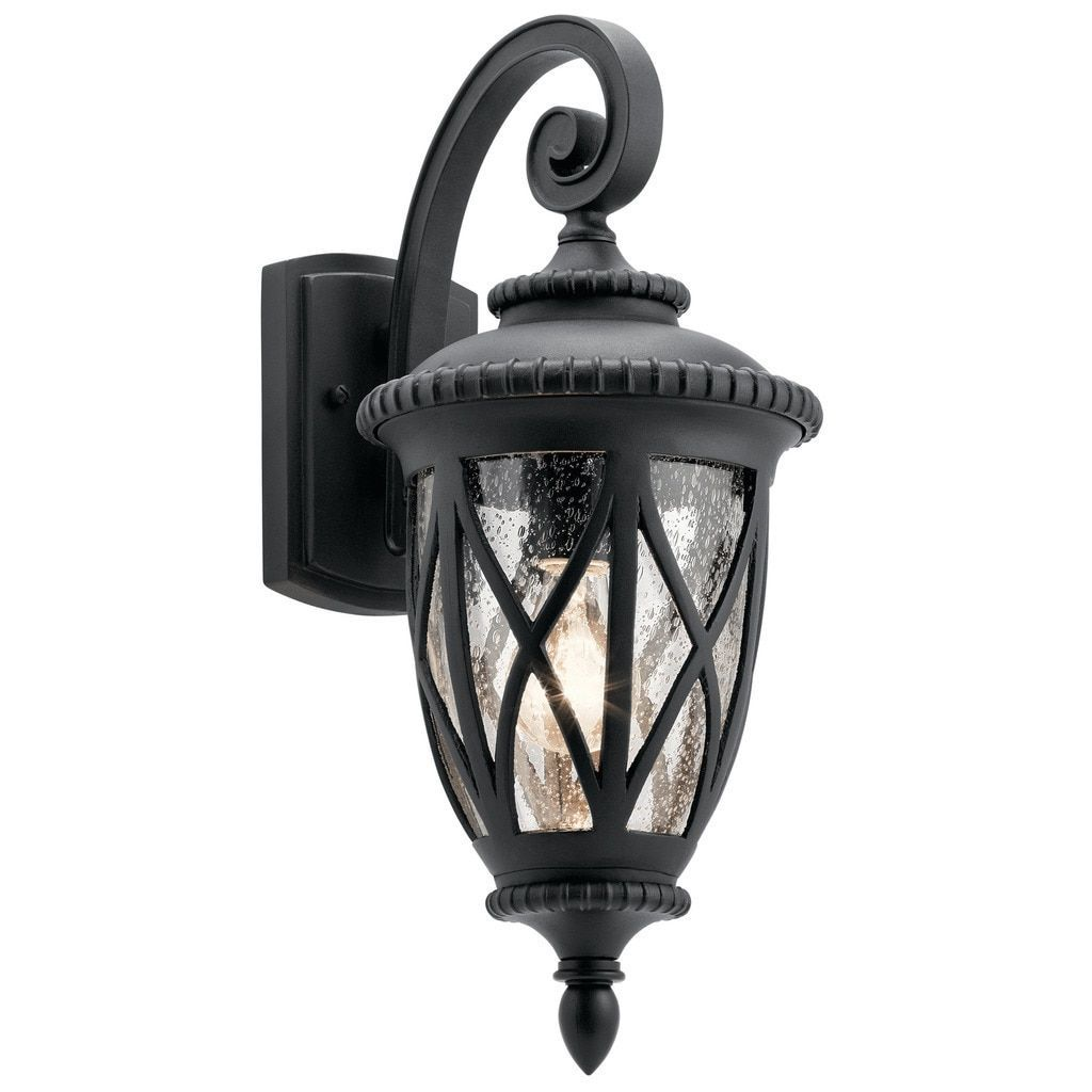 Kichler Lighting Admirals Cove Collection 1-light Textured Black Outdoor Wall Lantern (Glass)