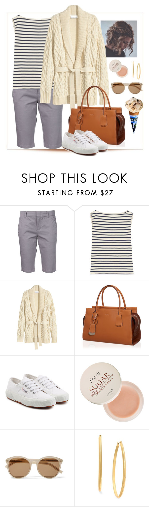 """Michigan vacation"" by jrowe1969 ❤ liked on Polyvore featuring Vince, Yves Saint Laurent, H&M, Tod's, Superga, Fresh and Charter Club"