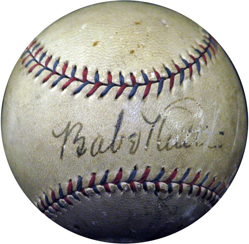 Autographed Babe Ruth Al Capone Baseball Could Sell For 200 000 Babe Ruth Baseball Babe Ruth Baseball Memorabilia