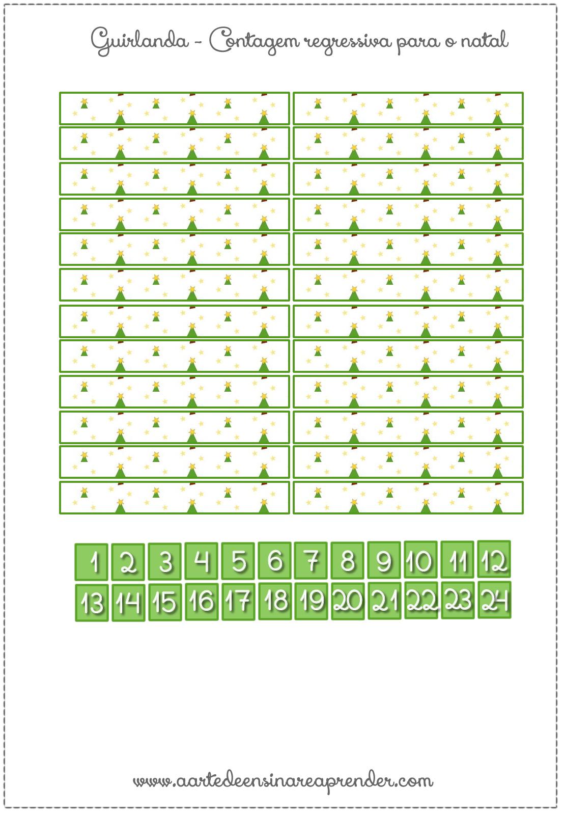 Vamos aprender brincando com esta guirlanda de pirulitos que forma um calendário e conta os dias para a chegada do natal. Pratica a c...