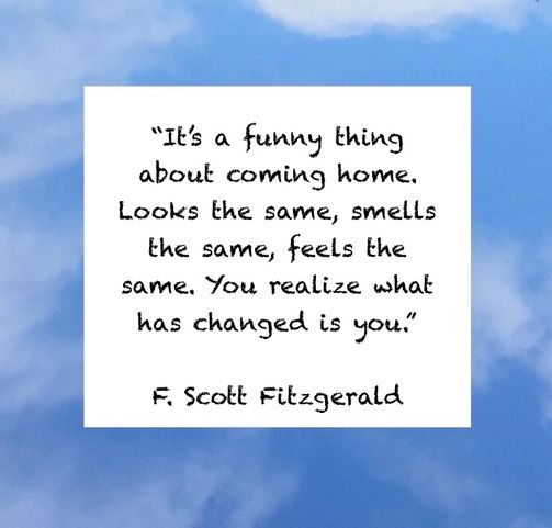 F Scott Fitzgerald Quote About How Travel Changes You Even After
