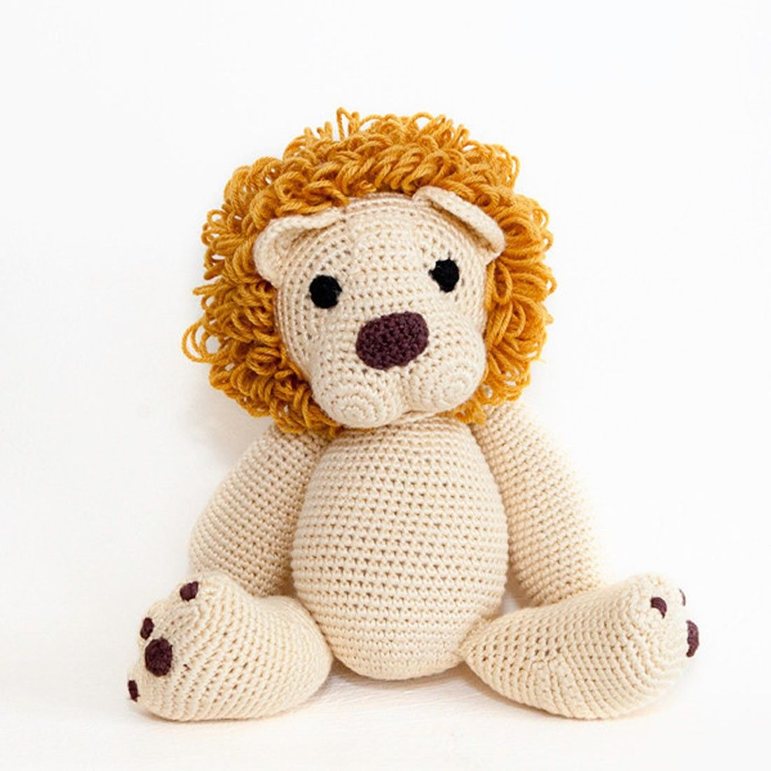 Nelson lion crocheted toy - soft toys + stuffed animals ...