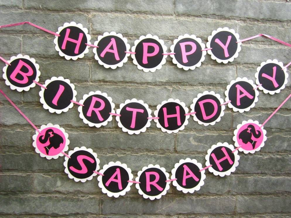 PERSONALIZED Barbie Birthday Party Banner by Sunshineatheart on