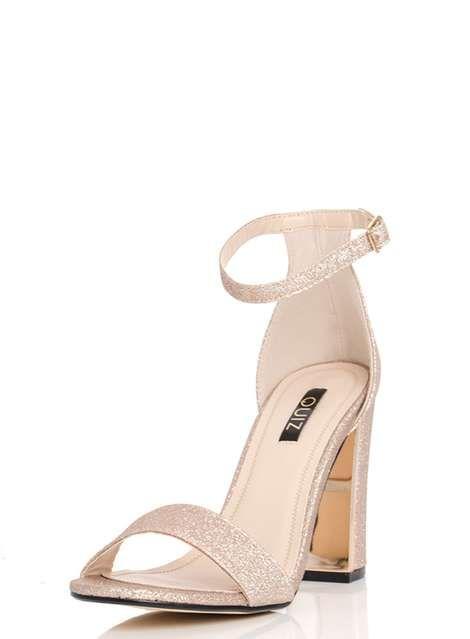 e60a97df62 Quiz Champagne Block Heel Sandals in 2019   Weeding M&M   Champagne ...