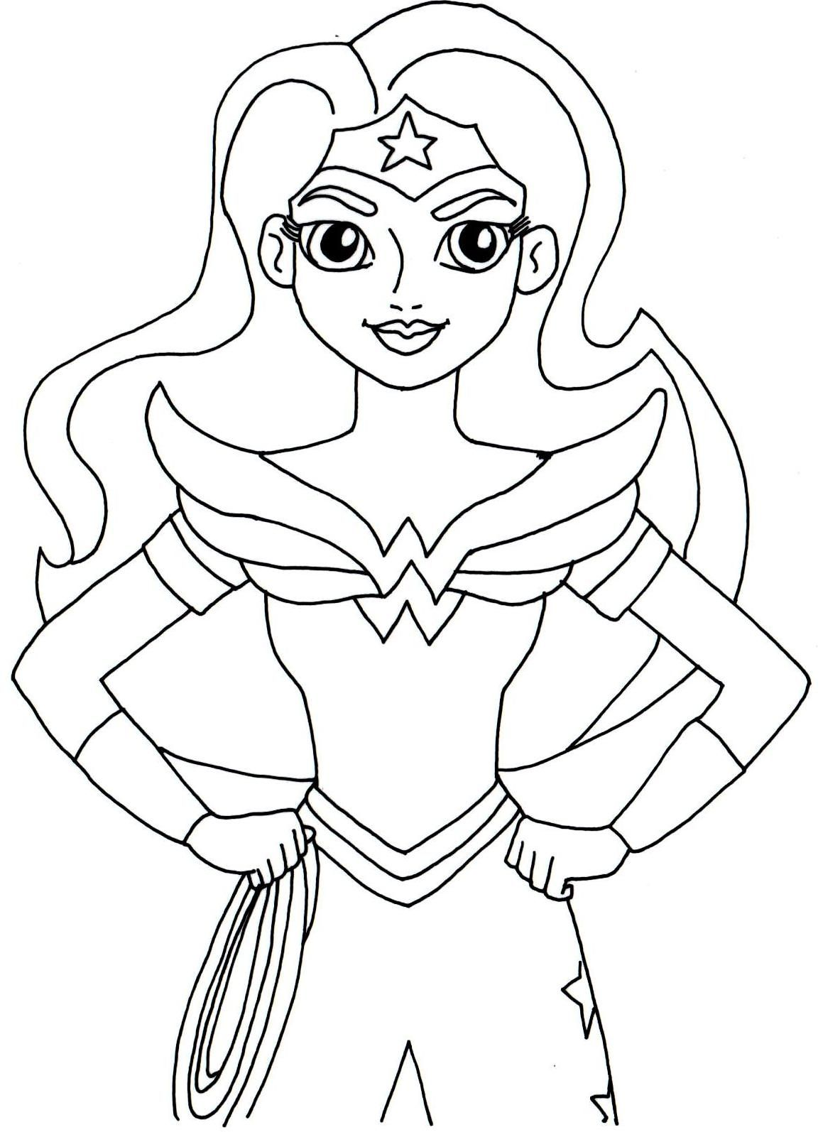 Free printable super hero high coloring page for Wonder Woman More are ing I
