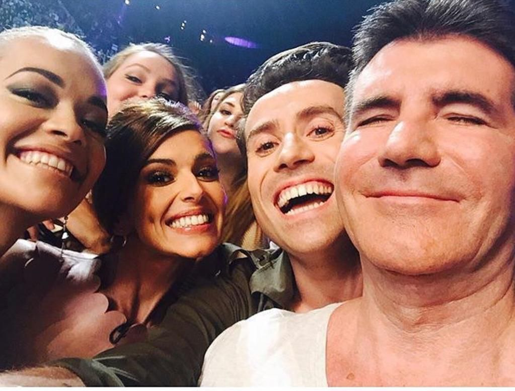 Have you ever wondered what @simoncowell 's sex face looks like? Wonder no more... @RitaOra @CherylOfficial @grimmers