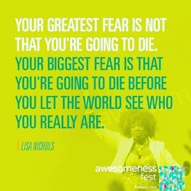 ✨Your greatest fear is not that youu0027re going to die Your biggest - what is your greatest fear
