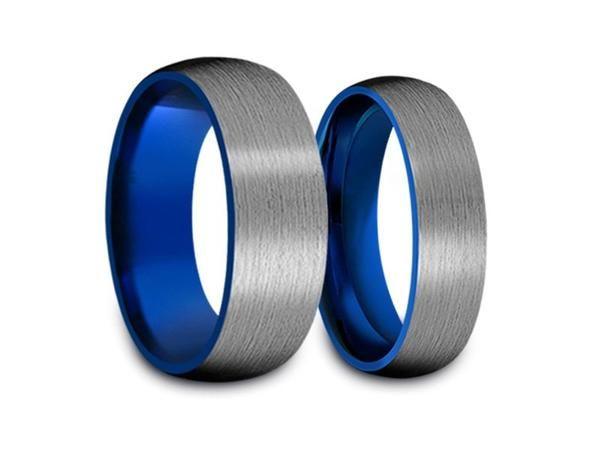 Tungsten carbide matching wedding bands