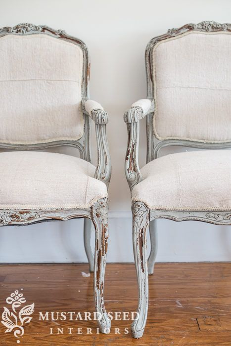 French Twins Reveal Miss Mustard Seed French Style Chairs