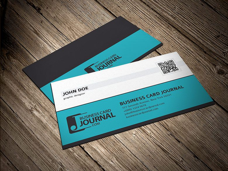 Free Professional Corporate Qr Code Business Card Template