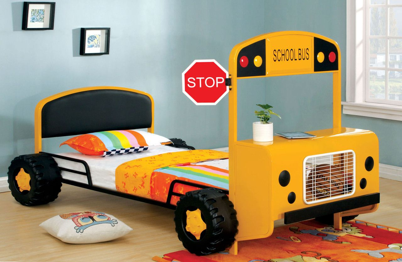 Decker Twin Yellow School Bus Bed Frame Kid Beds Bed Frame Sets Twin Bed Frame