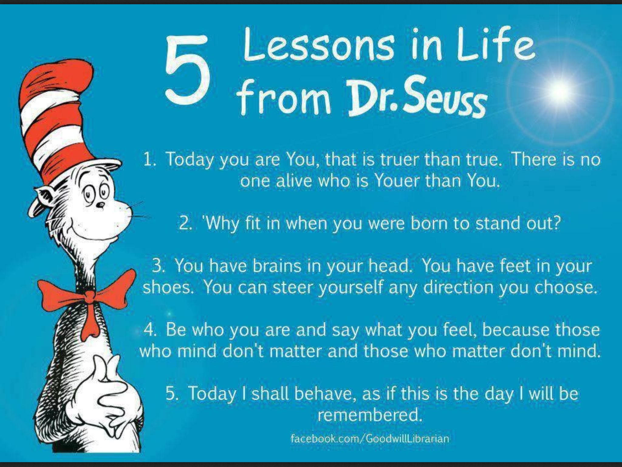 Unlike other Dr. Seuss quotes, which were part of rhymed verses, the famous quotes here were actually from prose. Description from aleksangria.blogspot.com. I searched for this on bing.com/images