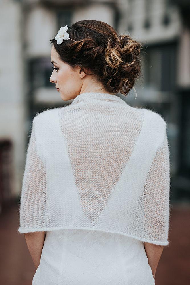 étole mariée pulls pour la mariée étole en mohair paula accessoire