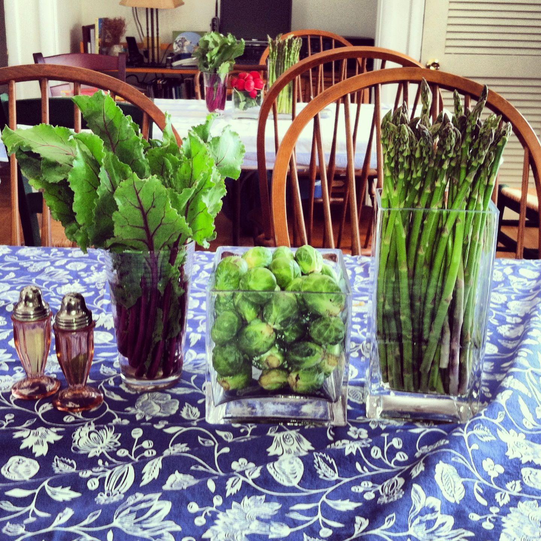 센터피스, 꽃 포장, 야채