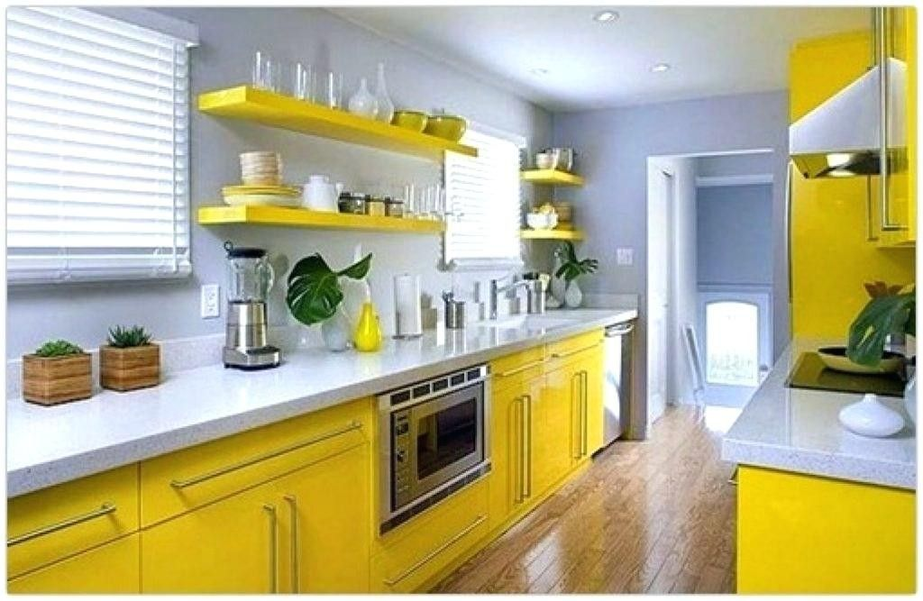 Yellow And White Kitchen Decor