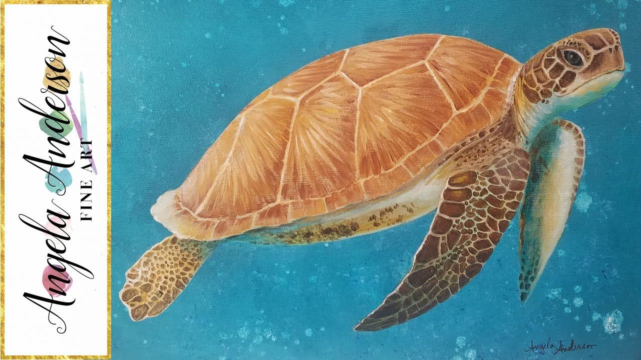 Learn How To Draw And Paint A Sea Turtle Easy And Fun Acrylic