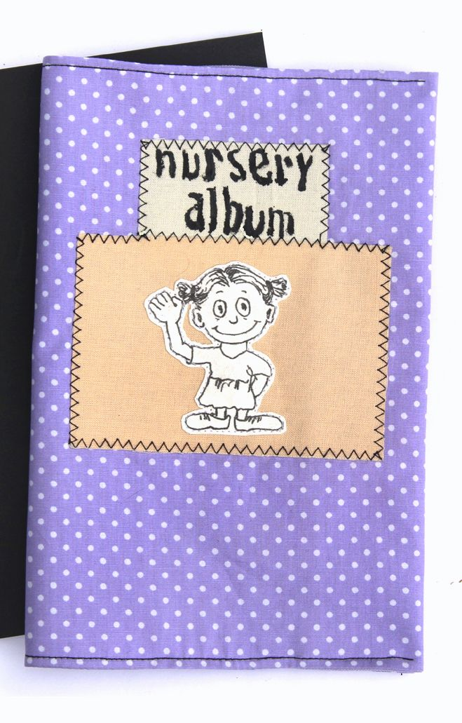 Minialbum Kindergarten Album Geschenk Grosseltern German Handmade Kinderalbum Stoff Kindergartenzeit Nursery School 2395 EUR
