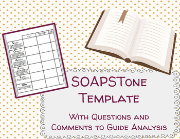 this is a soapstone worksheet template i found that when my students were asked to - Soapstone Worksheet
