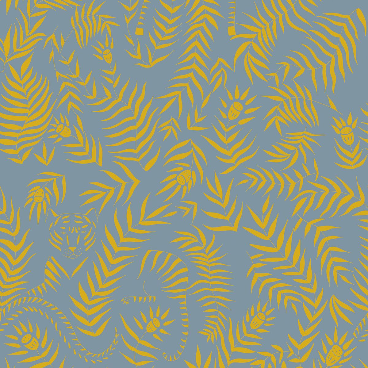 Jungle is a fun, contemporary take on a traditional leaf print ...