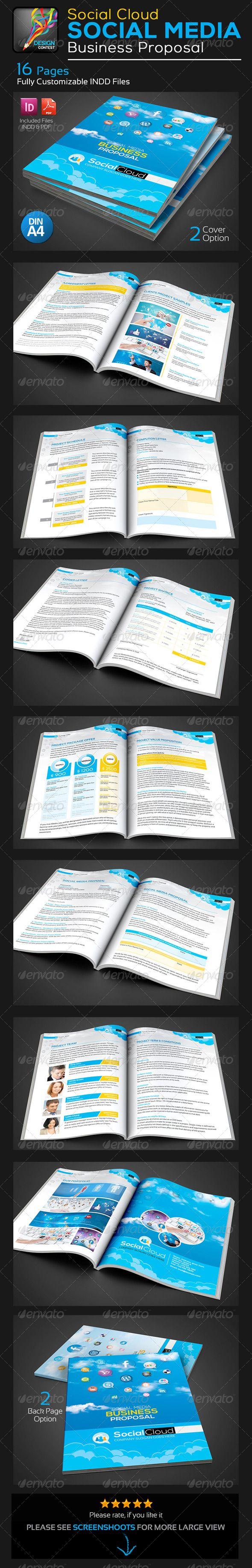 Social Cloud Social Media Business Proposal Indesign Indd