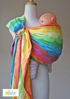 paxbaby, ring sling, jump sac baby, exclusive, rainbow