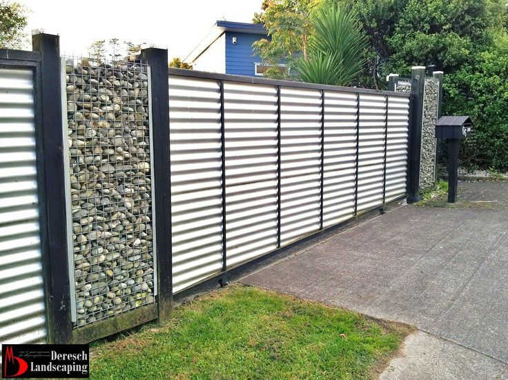 Steel Wall Compound : Corrugated tin fence yahoo image search results gates