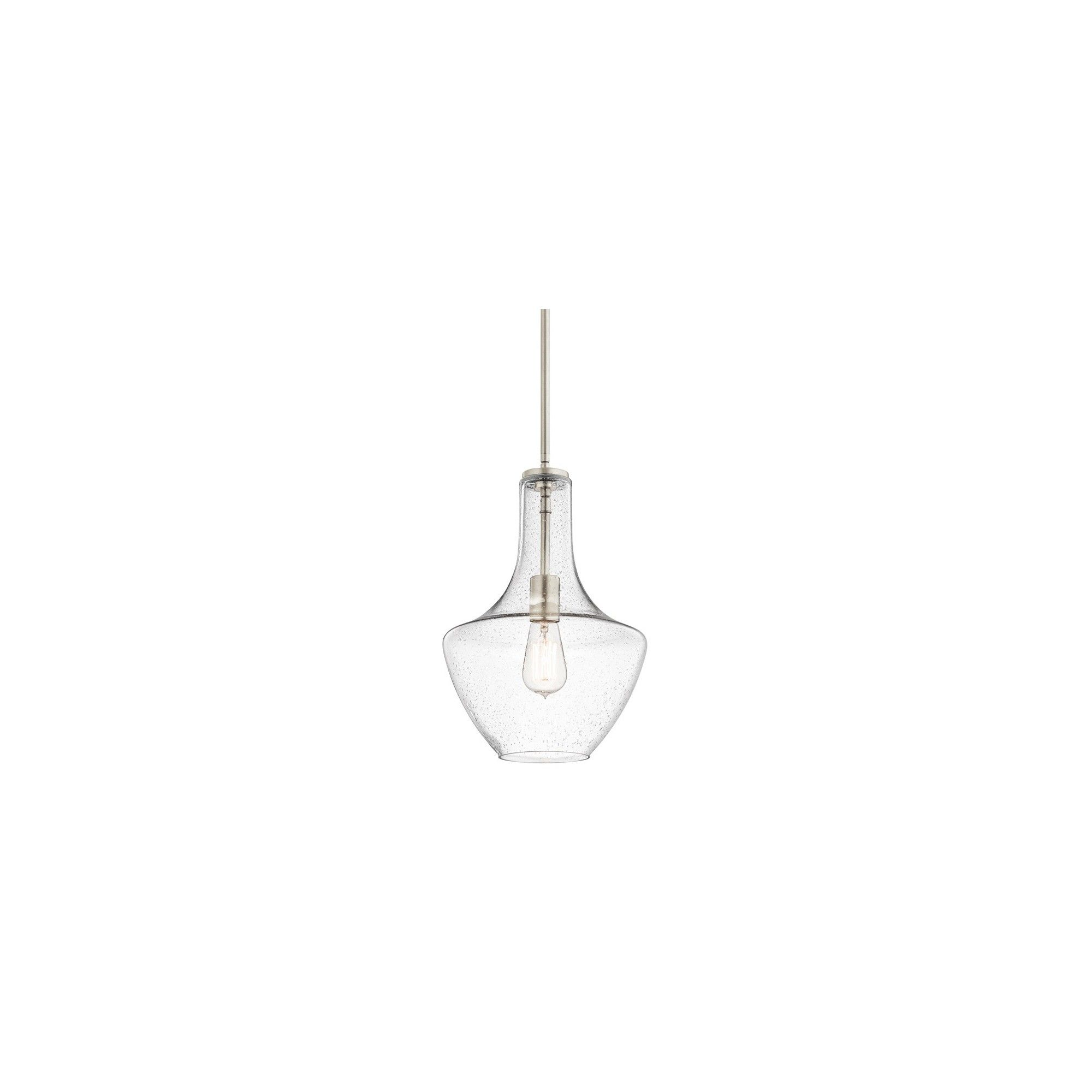 Kichler 42141cs Everly Single Light 11 Wide Pendant With Clear