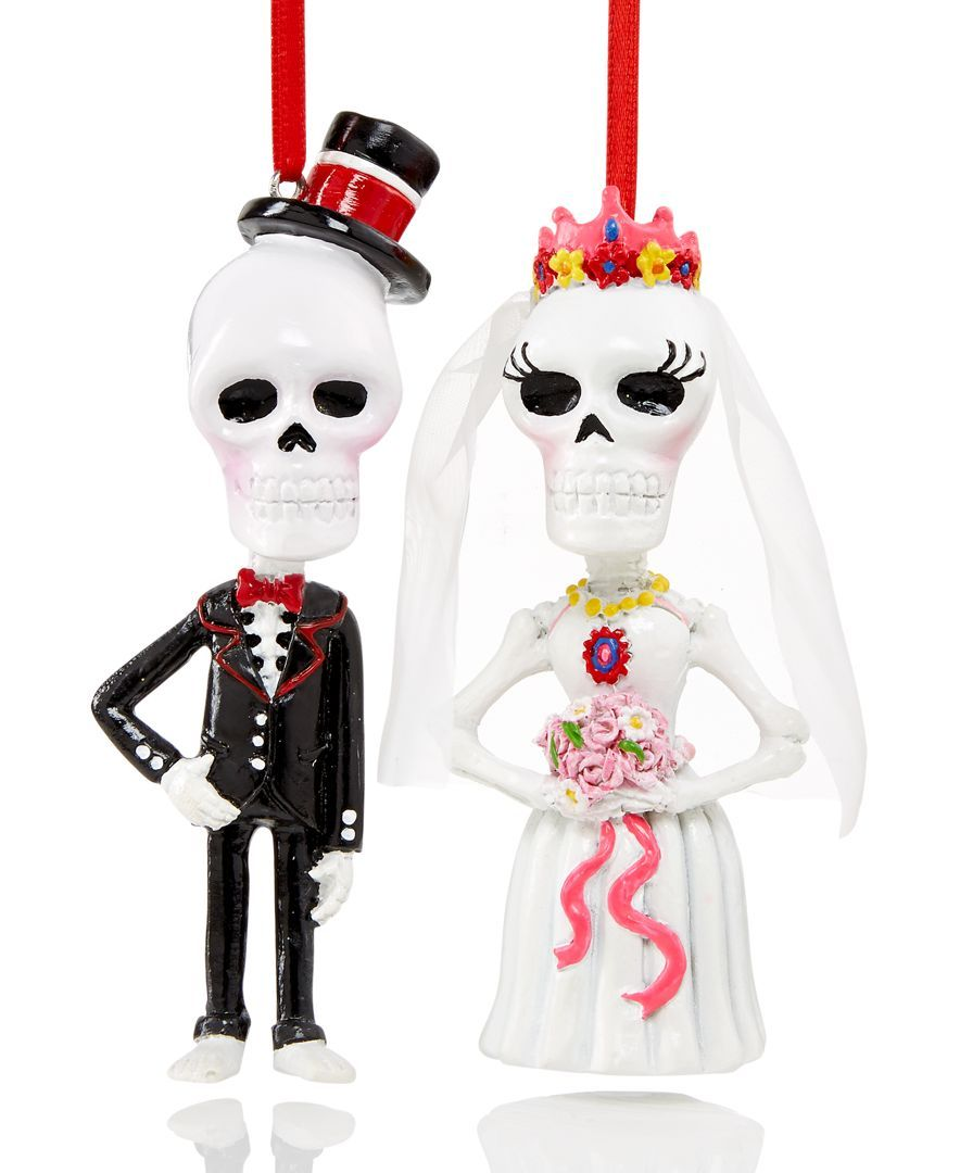 Macy Wedding Gifts: Holiday Lane Set Of 2 Day Of The Dead Skeleton Wedding