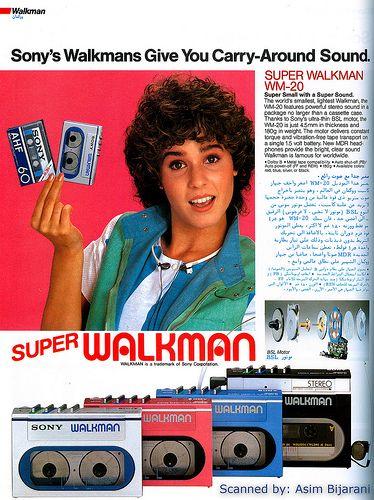 Resultado de imagen para walkman 80 girls