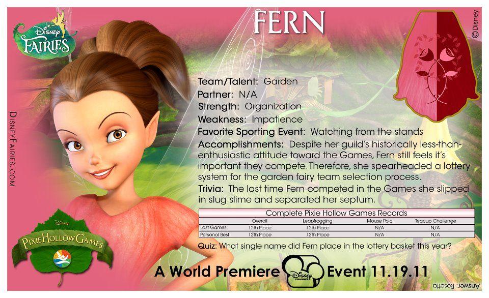Ferns Stats Disney Fairies