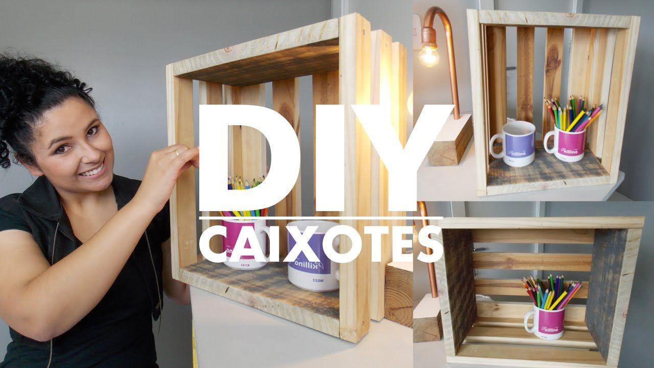 DIY | COMO FAZER CAIXOTES PARA DECORAÇÃO | Projets à essayer | Pinterest