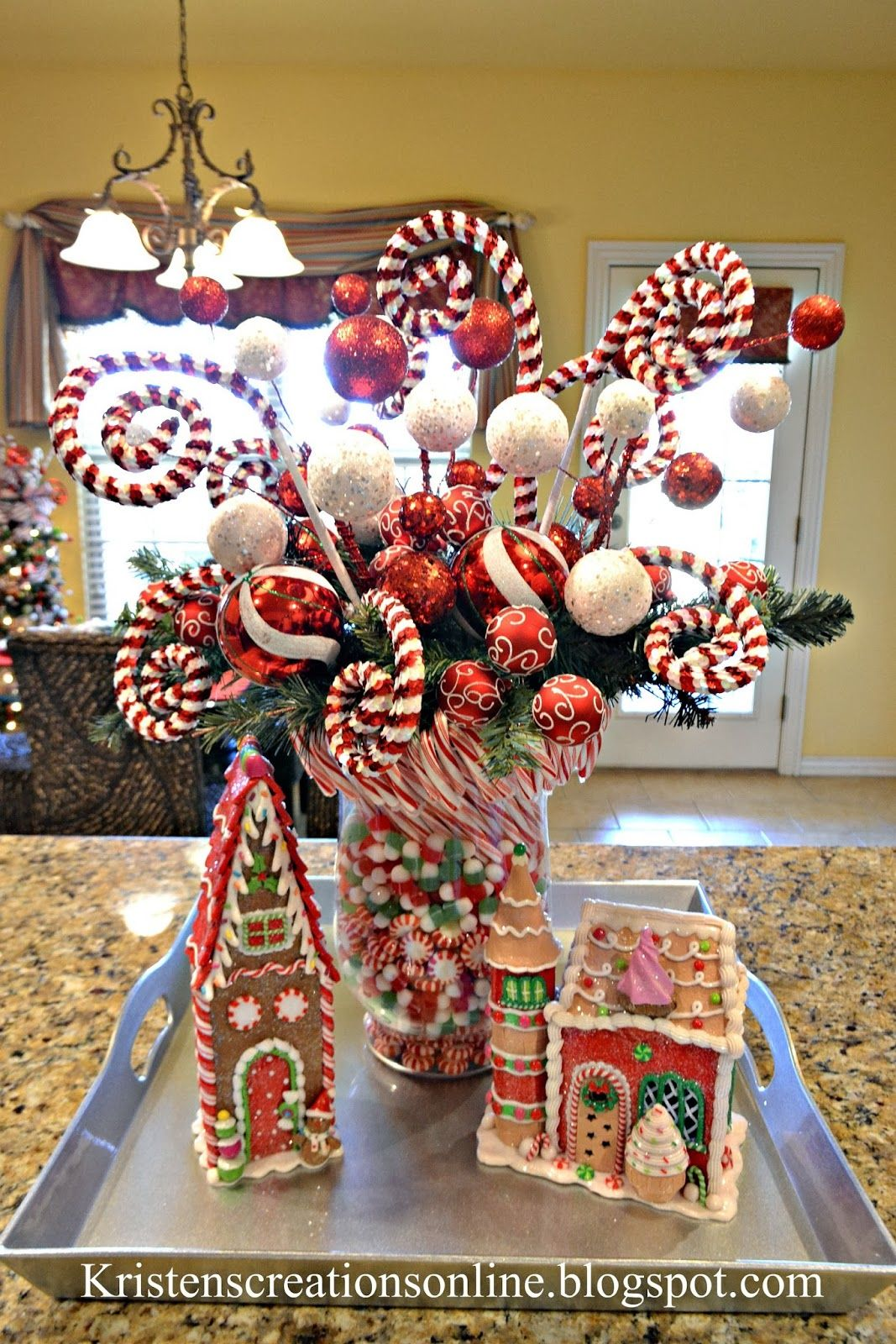 Candy Cane Decorations Pinterest Kristen's Creations Christmas Home Tour  Decorations  Pinterest