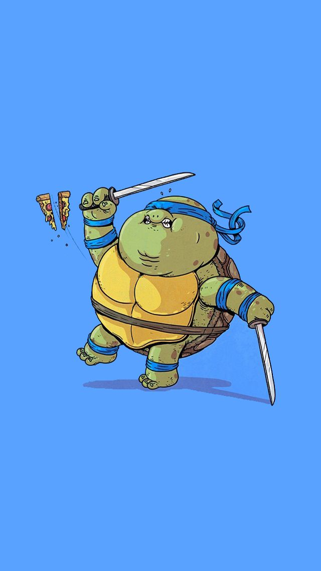 Fat Mutant Ninja Turtles - #Leornardo #cute #ninja #turtles iPhone wallpaper @mobile9