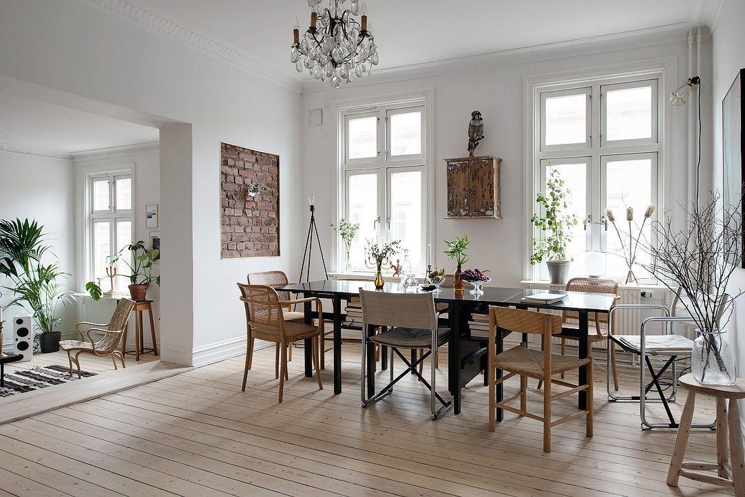 Eetkamer in Scandinavische stijl