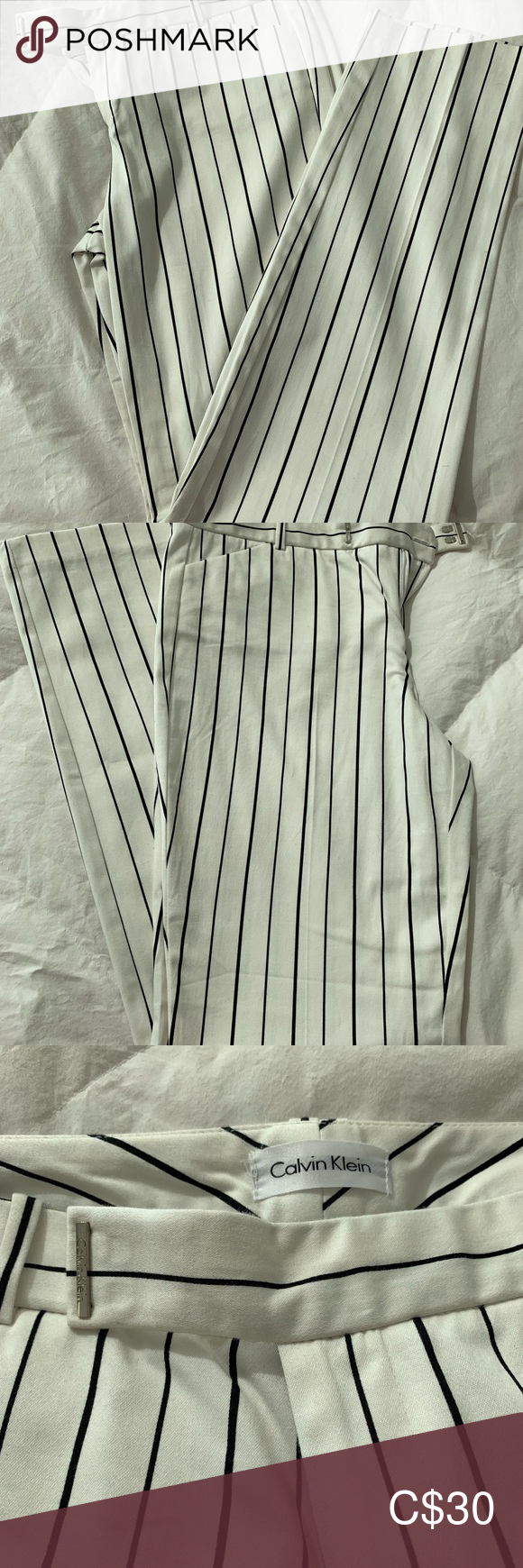 Never worn White slacks from Calvin Klein Excellent condition white slacks, great for an elegant office look! Calvin Klein Pants Straight Leg #whiteslacks Never worn White slacks from Calvin Klein Excellent condition white slacks, great for an elegant office look! Calvin Klein Pants Straight Leg #whiteslacks