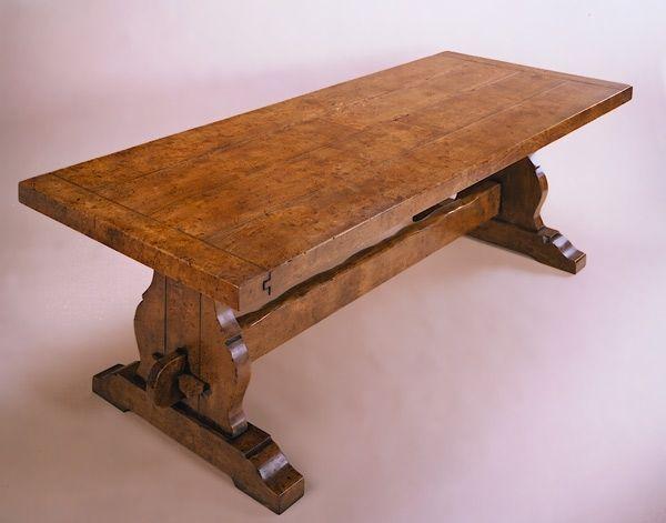 trestle dining table elm | medieval table | pinterest | trestle