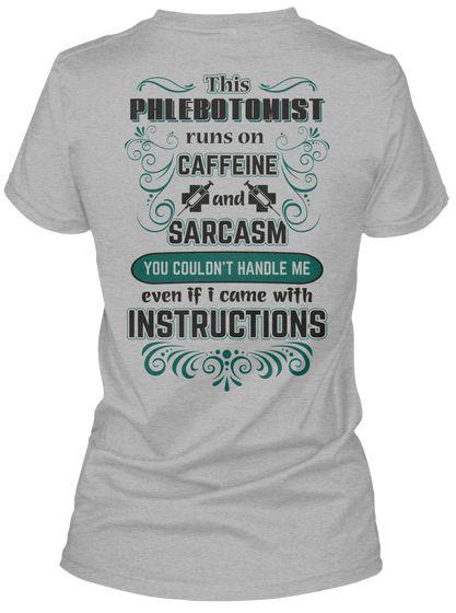 ef25c9702d Awesome Phlebotomist Shirt Sport Grey Women's T-Shirt Back ...