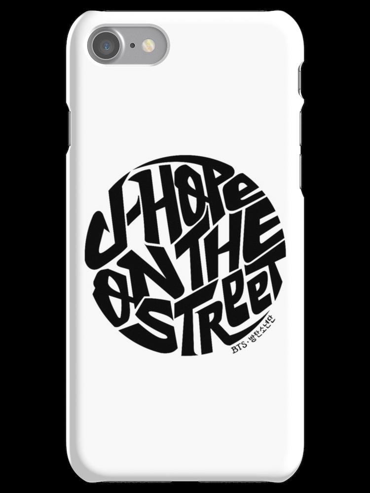 JHope BTS Member Logo Series (Black) iPhone Case