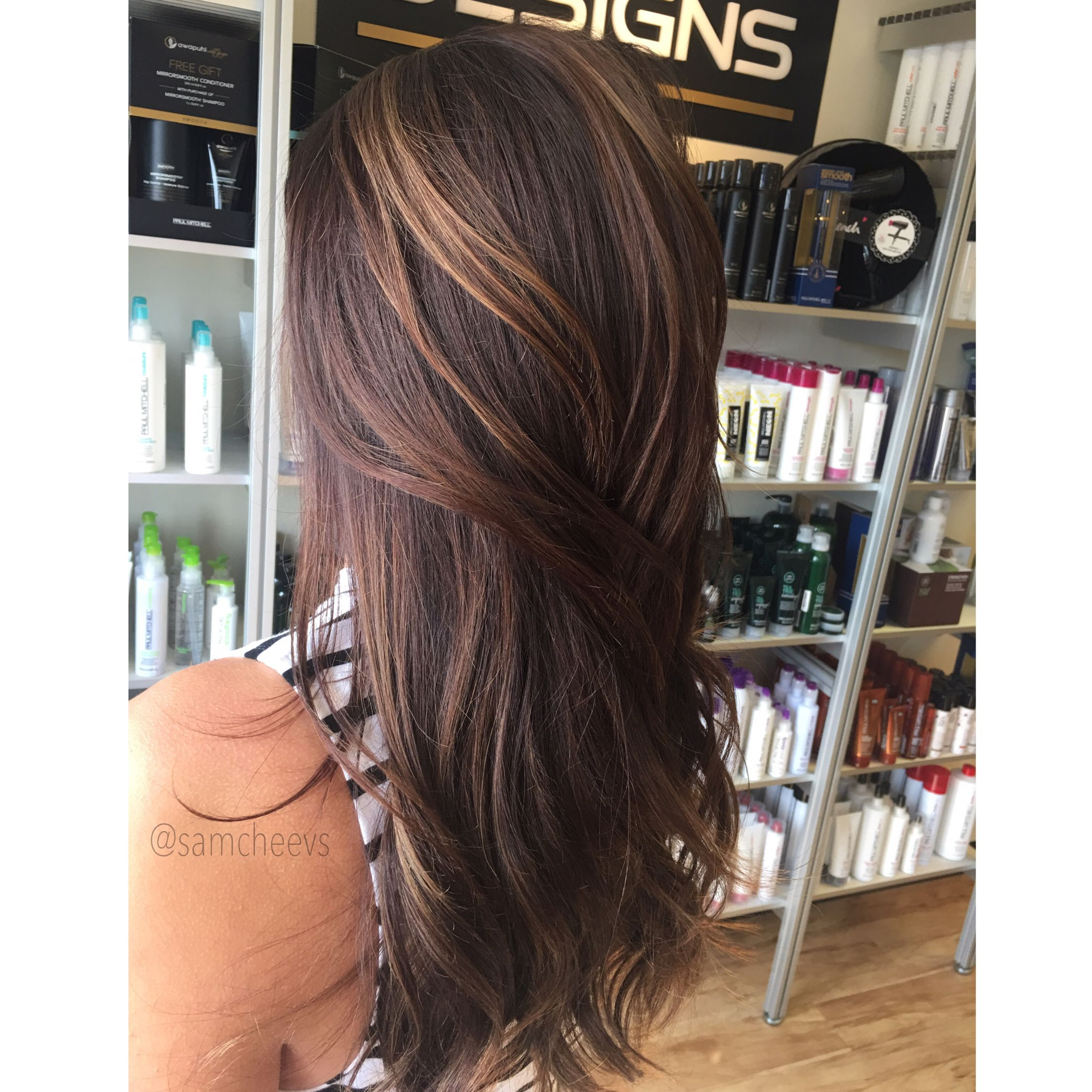 Chocolate Brown Hair With Highlights For Fall Warm Tones Long