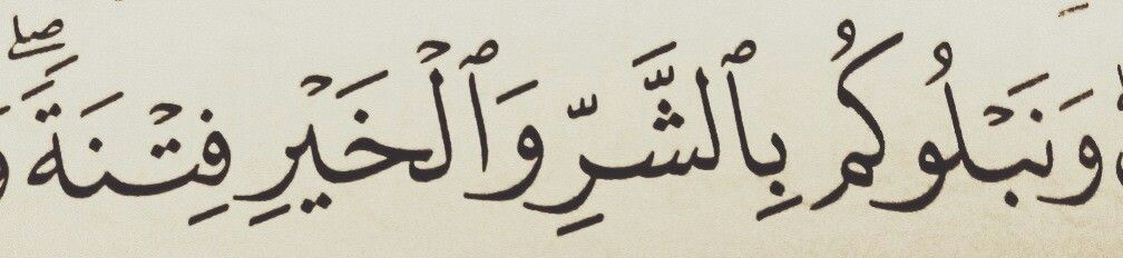 We Burden You With Adversity And Prosperity A Test Quran