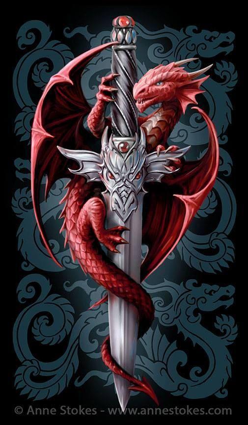 картинка дракон на кресте так понял сатана