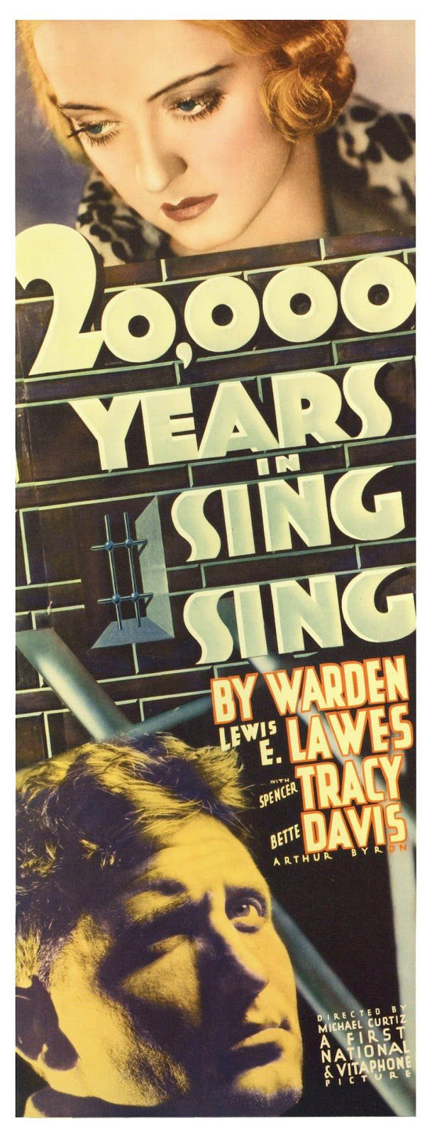 Bette Davis Spencer Tracy movie poster print 2 20,000 Years in Sing Sing 1932