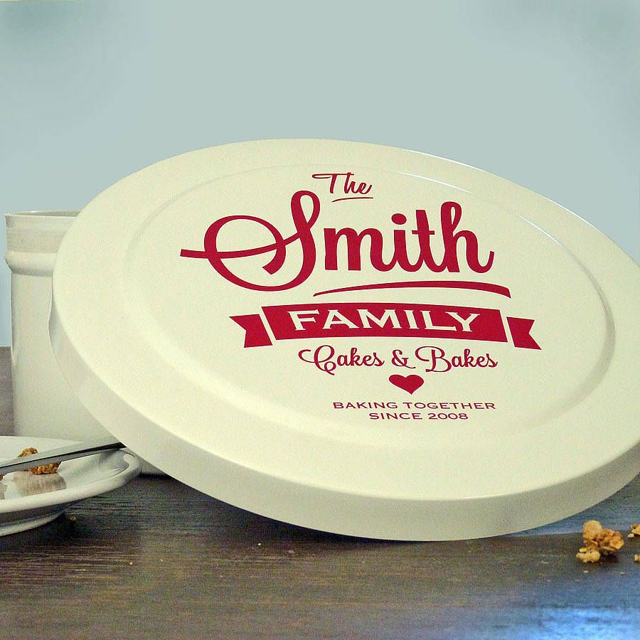 personalised family cake tin by delightful living | notonthehighstreet.com