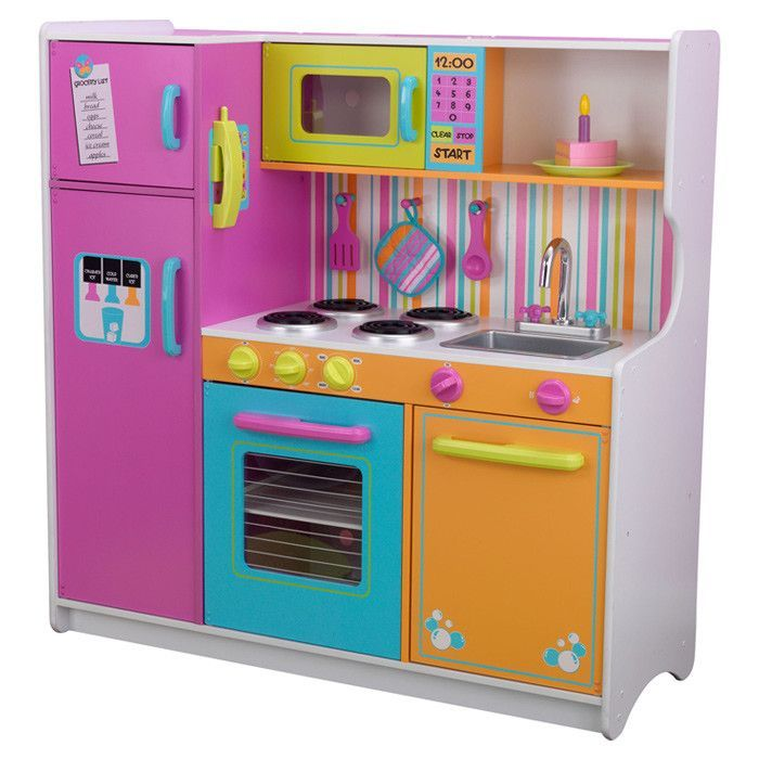Deluxe Big Bright Kitchen Set Play Kitchen Sets Kitchen Sets