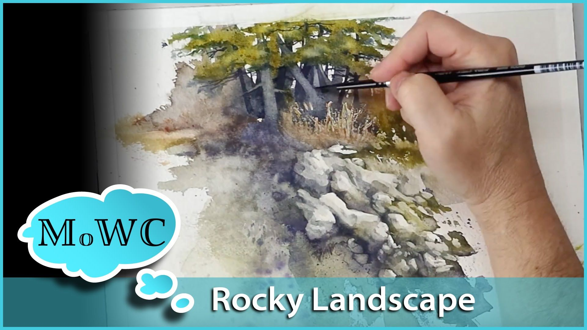 Painting A Rocky Watercolor Landscape Spontaneous Painting
