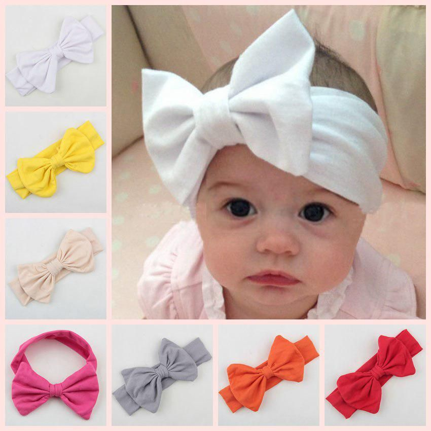 Baby Toddler Kids Girls Bow Hairband Turban Knot Cotton Cute Headbands^HeadweaLD