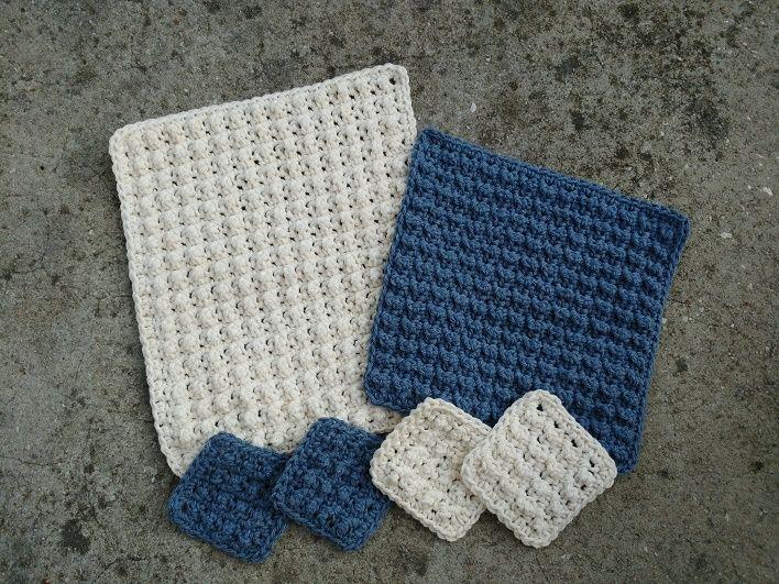 Textured Pebble Facial Scrubbies - Free Crochet Pattern | Deberes