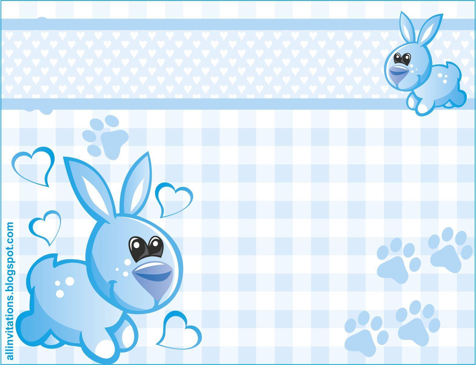 Invitaciones Baby Shower Niño ~ Invitacion baby shower conejito nino g �